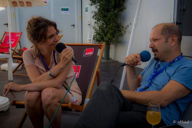 Stefano Di Battista au micro d'Elsa Boublil pour France Inter, Marciac 2016