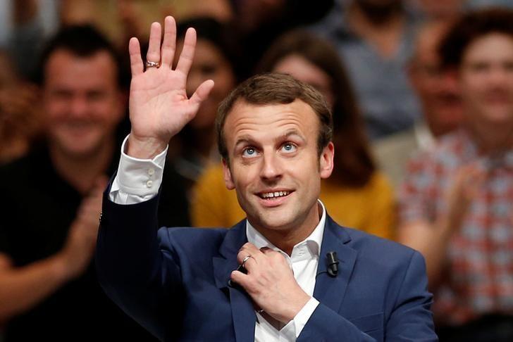 L'ex ministre français de l'économie  Emmanuel Macron