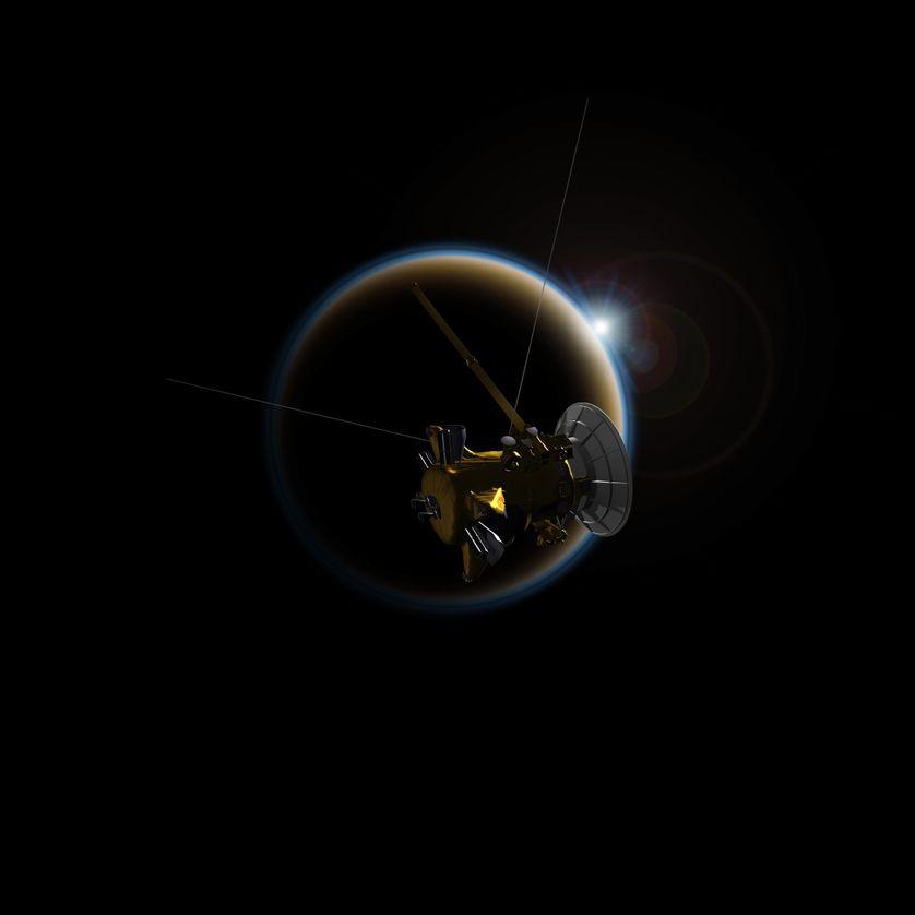 La sonde Cassini observe des coucher de soleils sur l'exoplanète Titan (visualisation 3D)