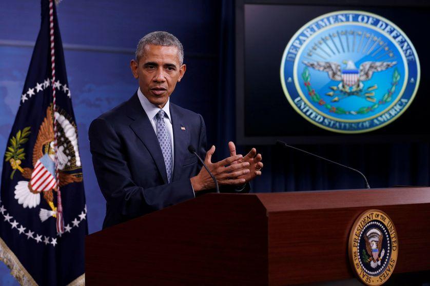 Barack Obama lors de sa conférence de presse au Pentagone, le 4 Août 2016