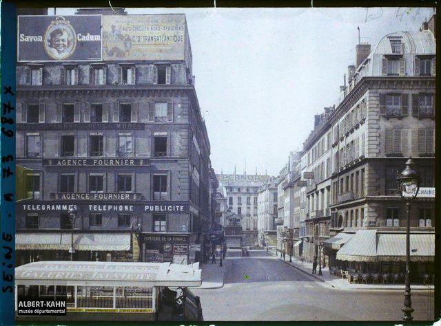 La rue de la Bourse vue depuis la rue Vivienne