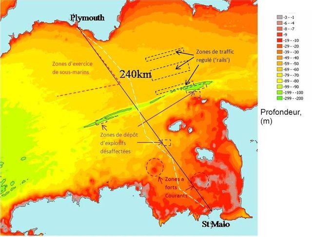 De Plymouth à St-Malo, le trajet de Poisson-pilote