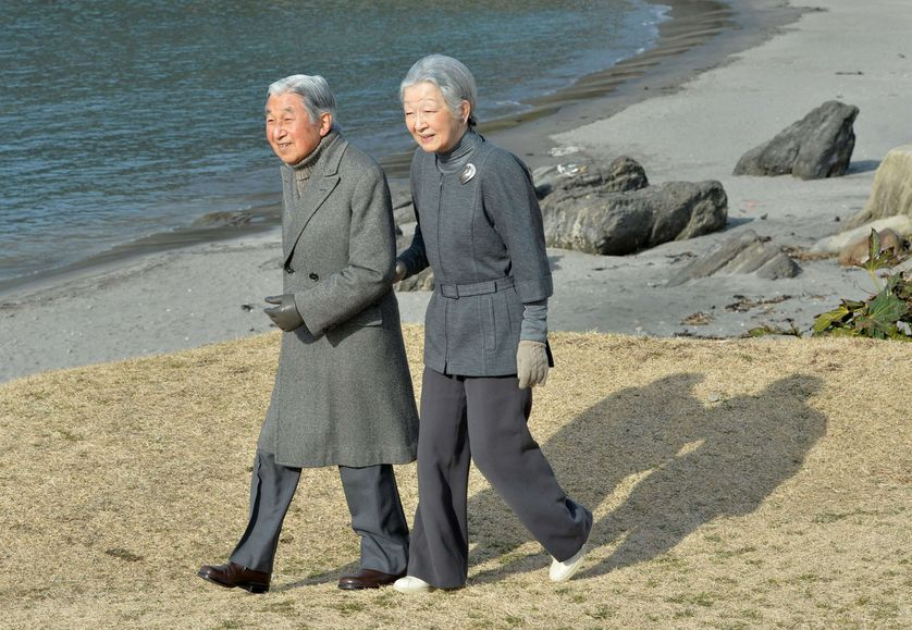l'Empereur Akihito and l'Impératrice Michiko en février 2016