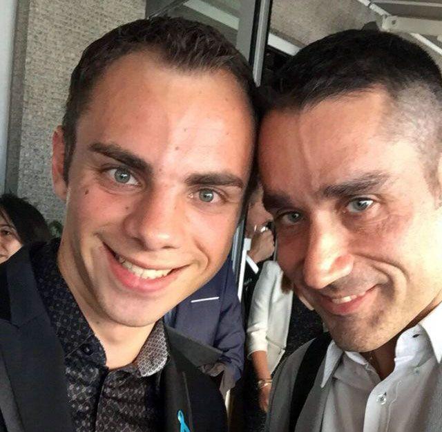 Valentin, un jeune récemment hébergé par Le Refuge et de Nicolas Noguier, le-président de -l'association