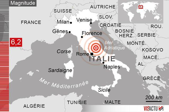 Un tremblement de terre s'est produit tôt mercredi en Italie