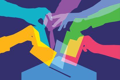 Silhouettes de votants