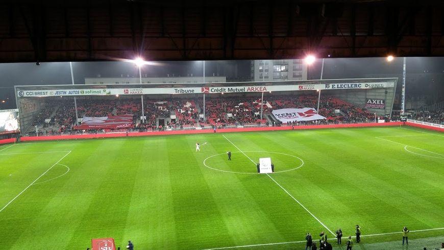 Le stade Francis Le Blé, lors du match contre Clermont, la saison dernière