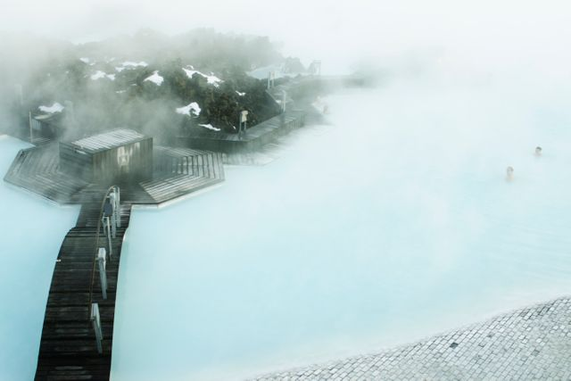 Le lagon bleu, station thermale située dans le sud-ouest de l'Islande.