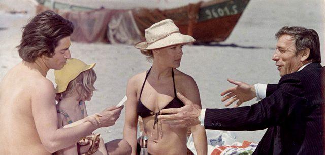 Sami Frey, Romy Schneider et Yves Montand