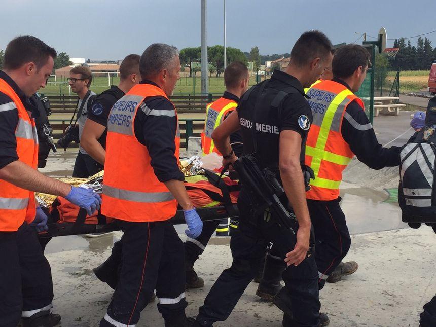 Blessé évacué après l'accident de train