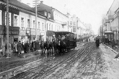 Les rues de kiev (Ukraine) en 1917