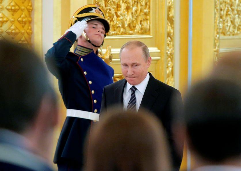 Vladimir Poutine, la semaine dernière au Kremlin
