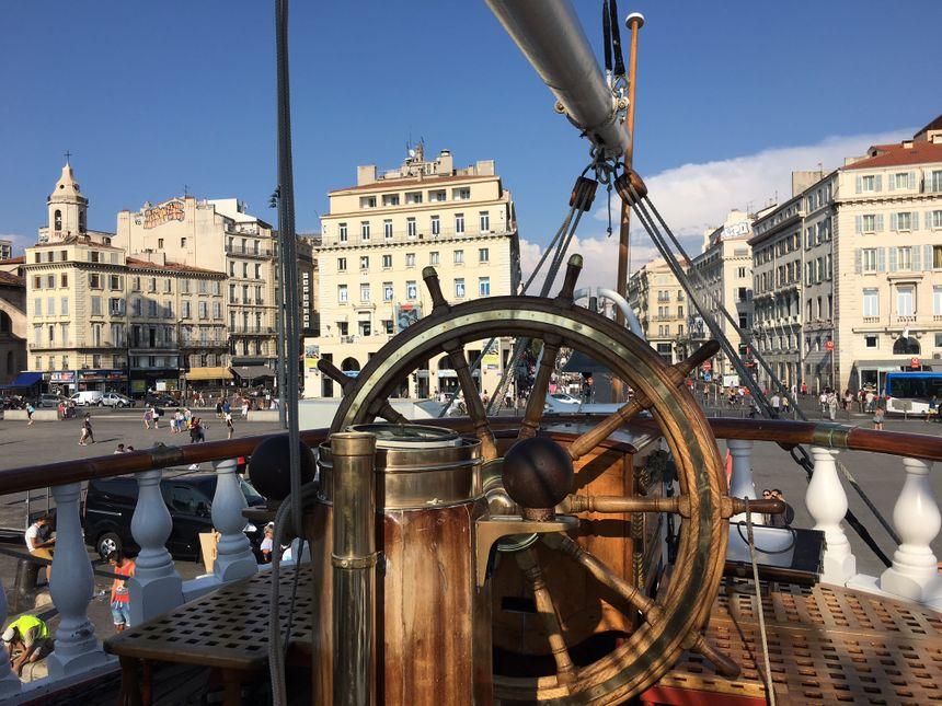 Le Belem quai de la fraternité à Marseille jusqu'à dimanche