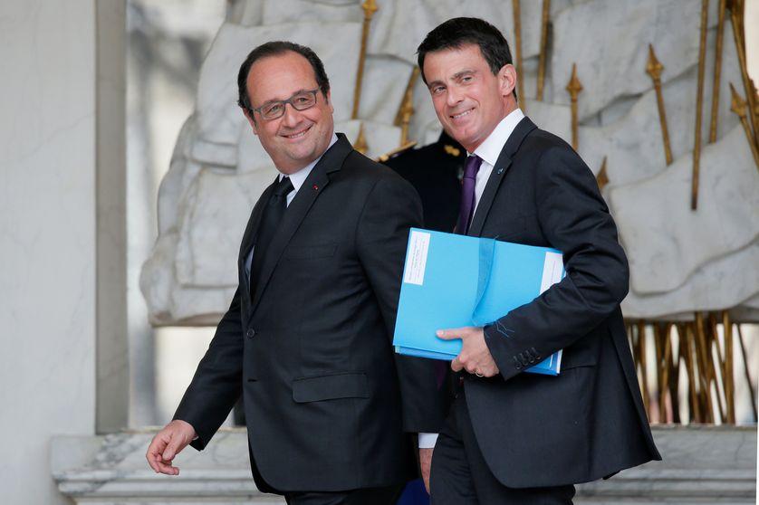 François Hollande et Manuel Valls à l'Elysée, en mai 2016.