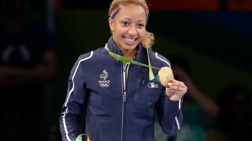La boxeuse Estelle Mossely, médaillée d'or à Rio en poids léger, s'entraîne toute l'année au Red Star club de Champigny