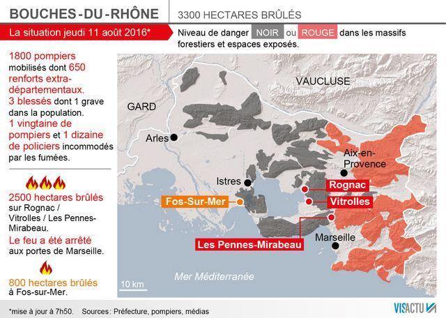 Le résumé de la situation des incendies dans les Bouches-du-Rhône ce jeudi matin