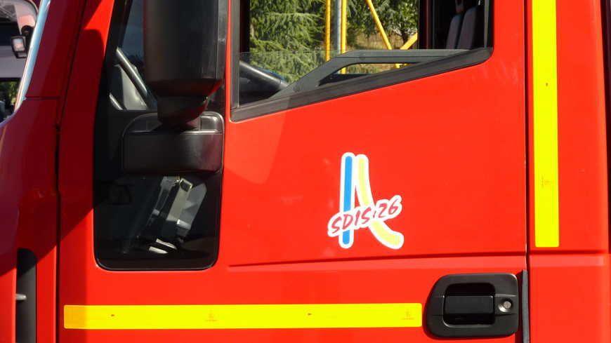 Un camion des pompiers de la Drôme.