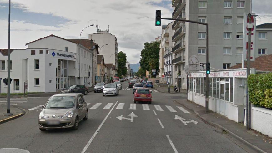 La bagarre a eu lieu à l'intersection des avenues Jean Mermoz et Fouchet à Pau