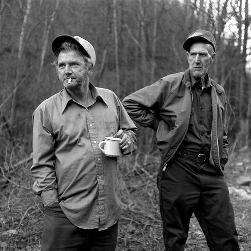 deux amis dans les Appalaches