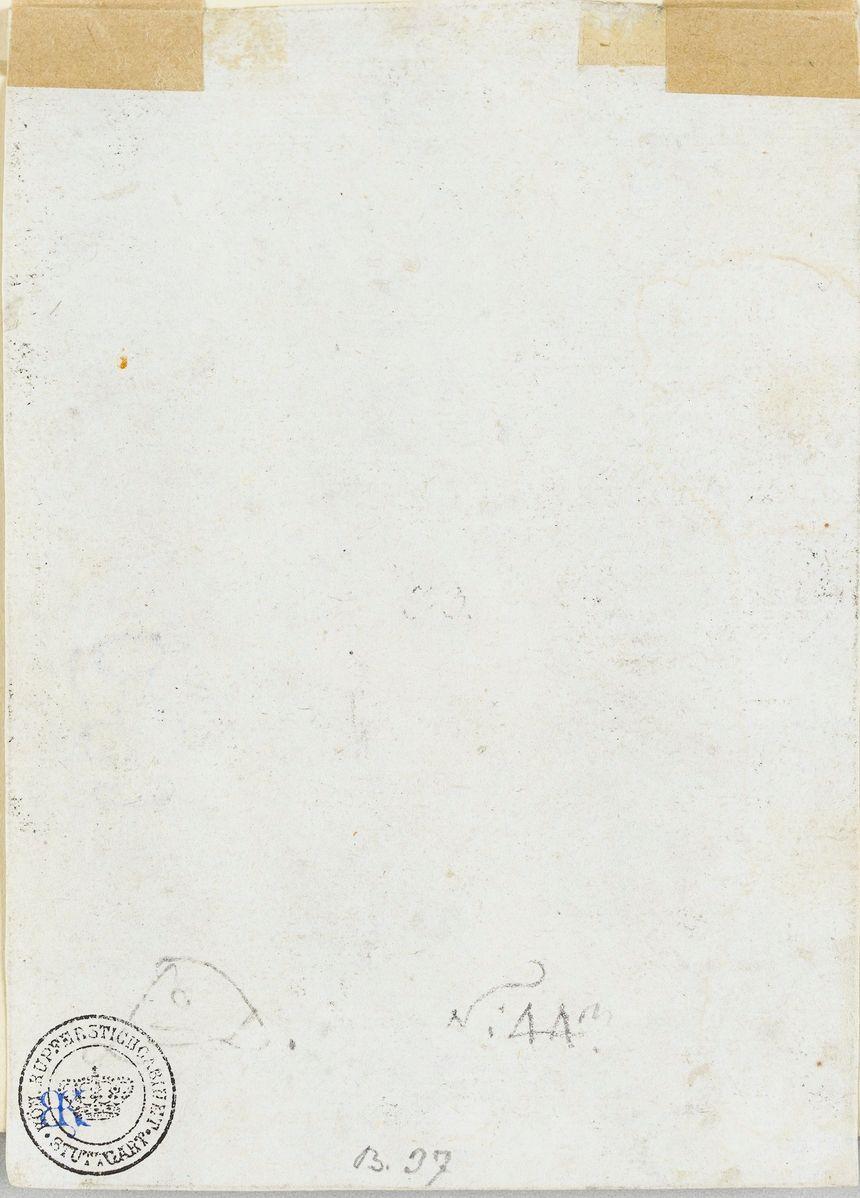 Au dos, les initiales d'Albrecht Dürer et le tampon de collection