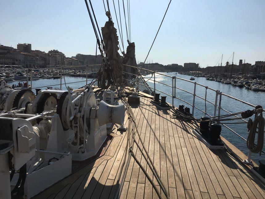 A bord du Belem à Marseille