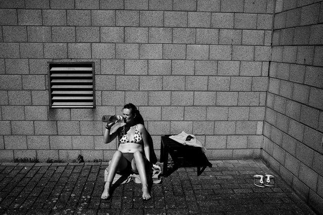 Femme dans une prison de Bruxelles
