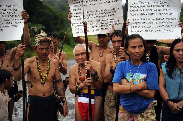 Blocus des Tribus Penan contre l'exploitation forestière et les plantations sur leurs terres ancestrales - 21 août 2009