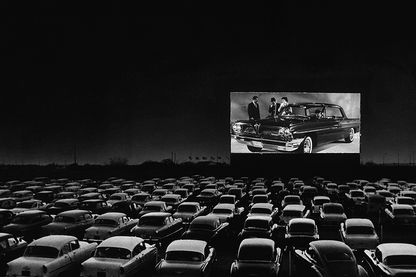 Drive-in dans les années 1950