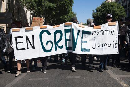 Manifestation à Marseille le 17 mai 2016 contre la Loi Travail.