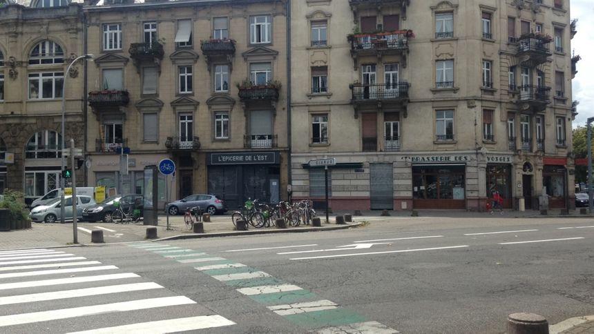 C'est à cet endroit que l'homme a été agressé à Strasbourg