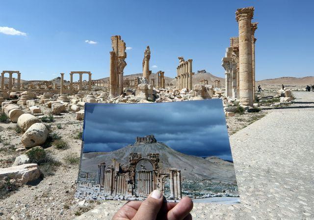 L'arc de triomphe de la cité antique de Palmyre
