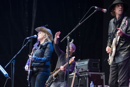 Lucinda Williams à l'Azkena Rock Festival à Vitoria le 17 juin 2016.