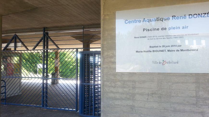Le Centre Aquatique René Donzé fermé au public depuis le lundi 15 août 2016.