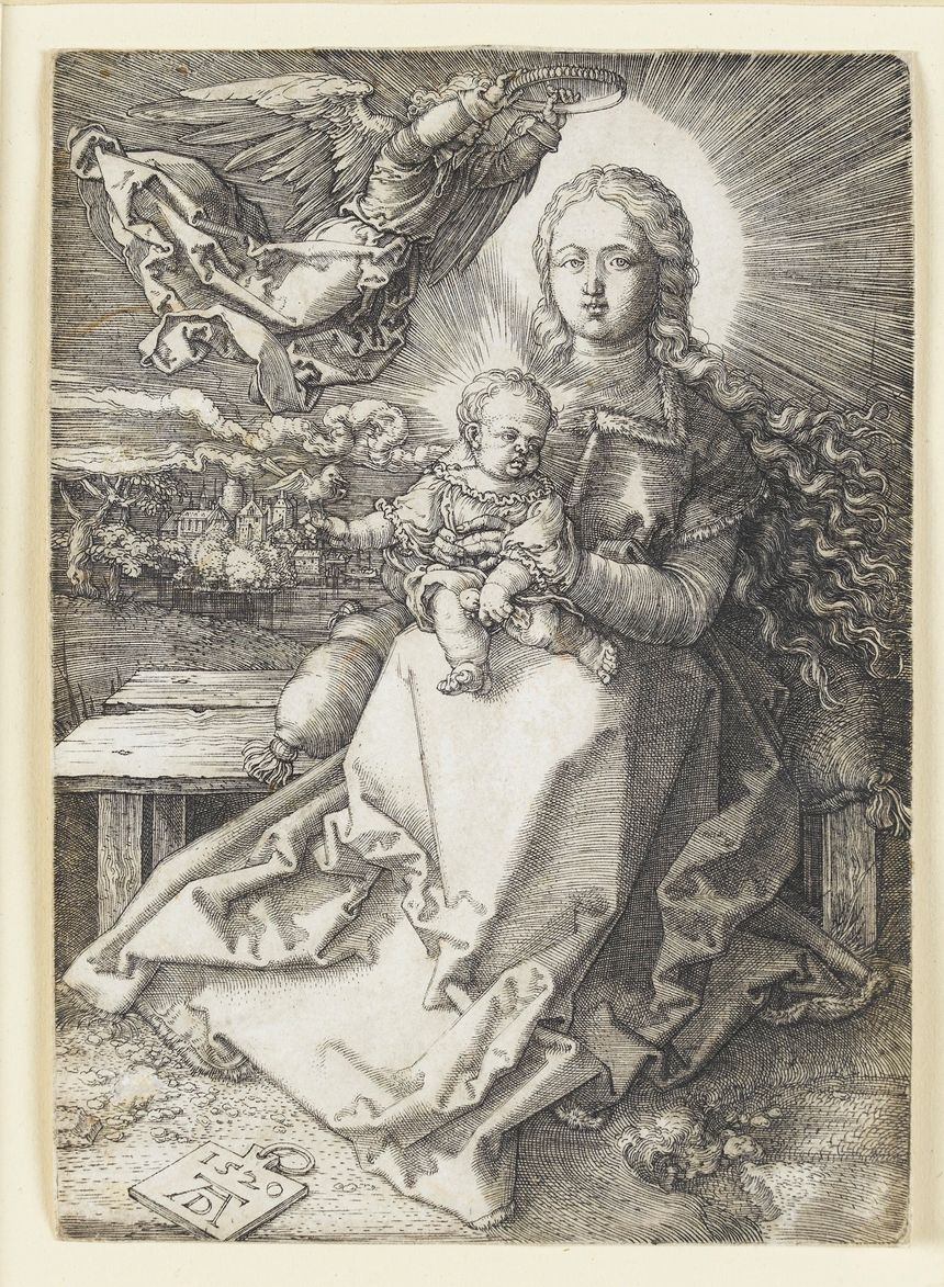 """""""Maria von einem Engel gekrönnt"""" d'A. Dürer"""