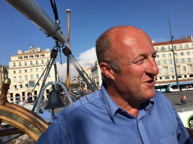 Michel Péry, commandant du Belem