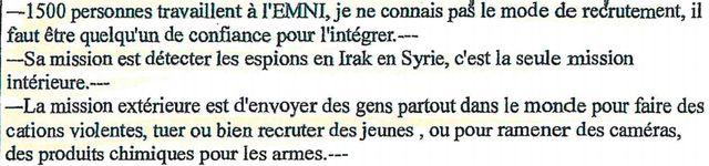 Extrait d'un PV d'audition d'un djihadiste en rupture avec l'organisation EI