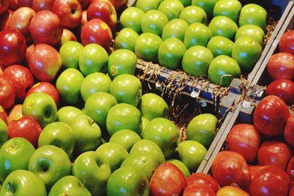 Les pommes vendues en supermarché