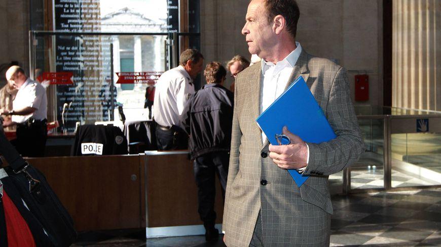 François Marie Banier lors du procès en première instance à Bordeaux