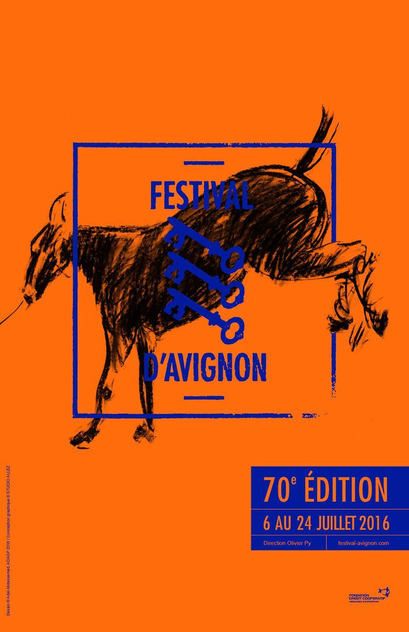 Affiche de la 70ème édition du Festival d'Avignon