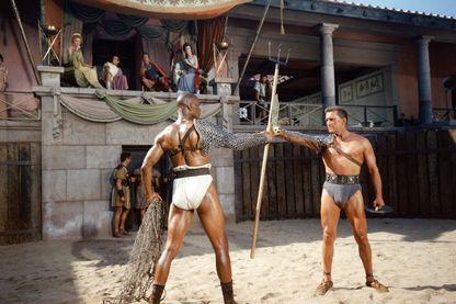 """""""Spartacus"""" de Stanley Kubrick avec Woody Strode et Kirk Douglas (1960)"""