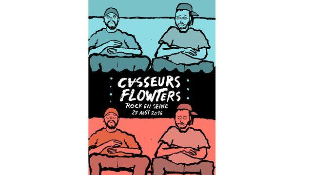 L'affiche réalisée par le concert des Casseurs Flowters (Gringe et Orelsan)