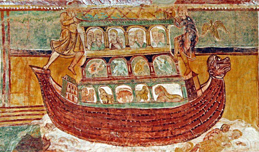 Arche de Noé, vers 1100. Abbaye de Saint-Savin-sur-Gartempe.