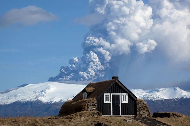 L'éruption du volcan Eyjafjallajokull, en 2010.