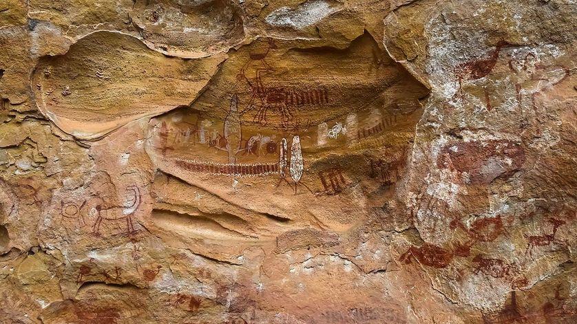 Les peintures rupestres de Pedra Furada, au Brésil, sont datées de plus de 35 000 ans.