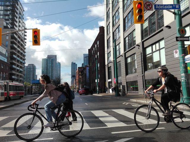 Cyclistes à Torondo (Canada)