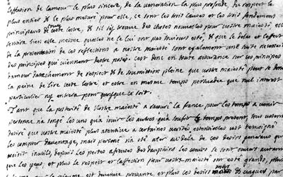 - lettre anonyme au roi Louis XIV (1712)