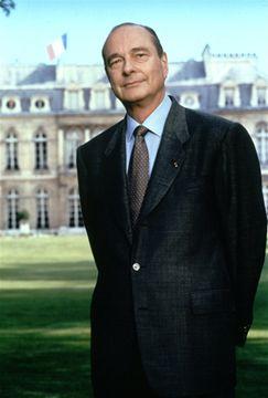 Le portrait officiel du Président Chirac