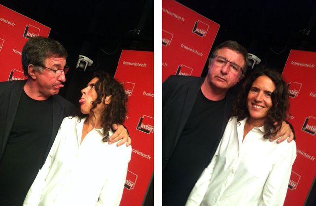 Jean-Michel Djian et Mazarine Pingeot