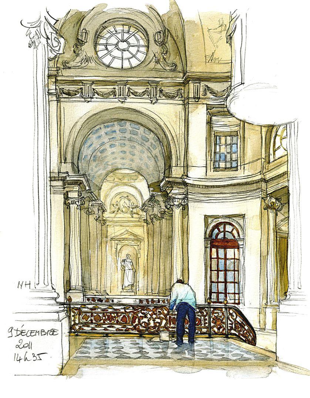 L' escalier du Conseil d'état, décembre 2011