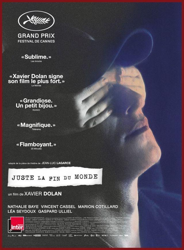 """Affiche du film de Xavier Dolan """"Juste la fin du monde"""